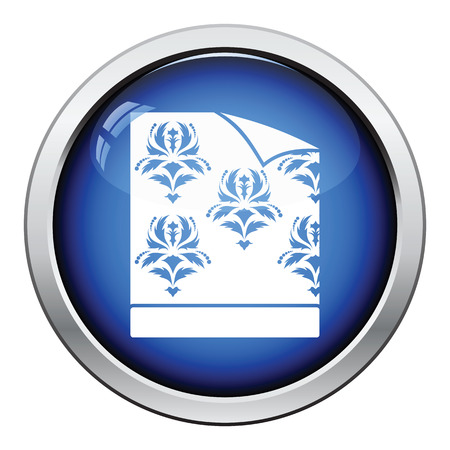paperhanging: Wallpaper icon. Glossy button design. Vector illustration.