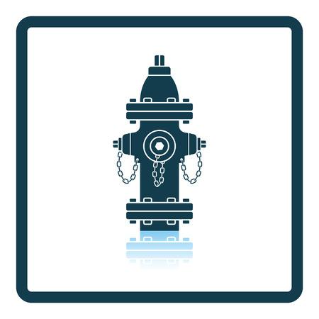 hydrant plug: Fire hydrant icon. Shadow reflection design. Vector illustration. Illustration