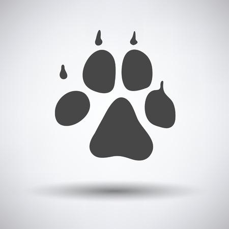 Hondensleeppictogram op grijze achtergrond met ronde schaduw. Vector illustratie.