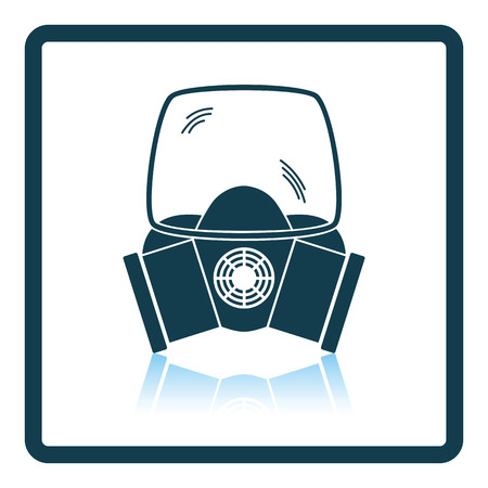 odors: Fire mask icon. Shadow reflection design. Vector illustration.