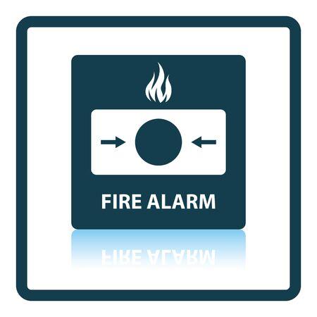 intruder: Fire alarm icon. Shadow reflection design. Vector illustration. Illustration