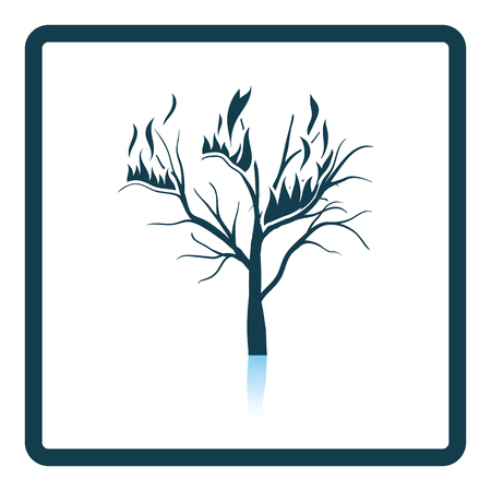 wildfire: Wildfire icon. Shadow reflection design. Vector illustration.