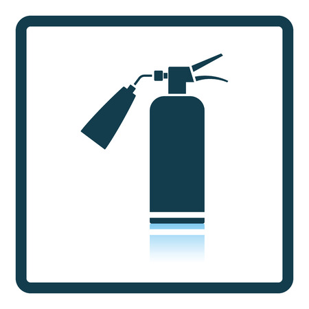 suppression: Fire extinguisher icon. Shadow reflection design. Vector illustration.