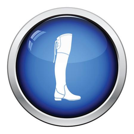 Hessische Stiefel-Symbol. Glossy Button Design. Vektor-Illustration.