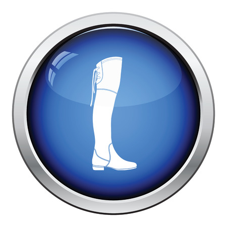 hessian boots: Hessian boots icon. Glossy button design. Vector illustration. Illustration