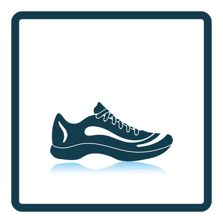 Sneaker icon. Shadow reflection design. Vector illustration.