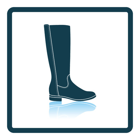 autumn woman: Autumn woman boot icon. Shadow reflection design. Vector illustration.