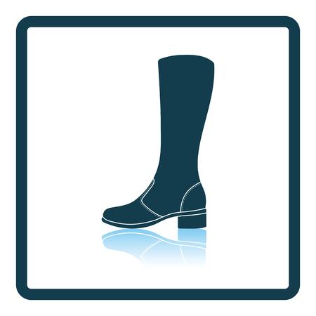 Autumn woman boot icon. Shadow reflection design. Vector illustration.