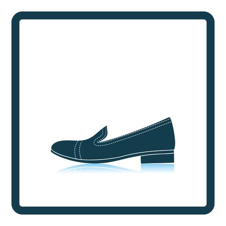woman shadow: Woman low heel shoe icon. Shadow reflection design. Vector illustration. Illustration