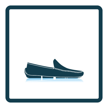 Moccasin icon. Shadow reflection design. Vector illustration.