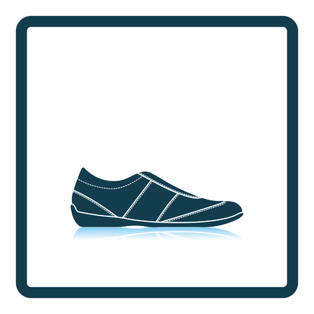 shadow man: Man casual shoe icon. Shadow reflection design. Vector illustration.