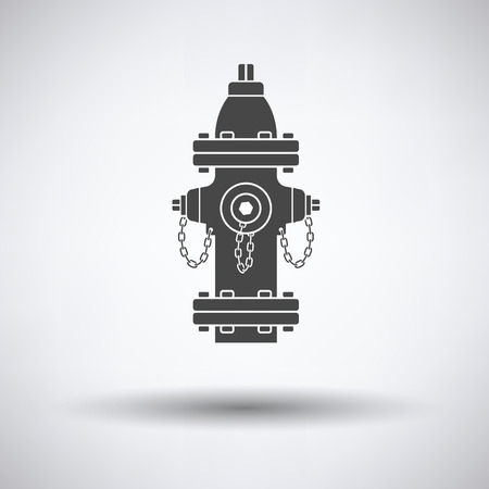 fire plug: Fire hydrant icon on gray background with round shadow. Vector illustration. Illustration