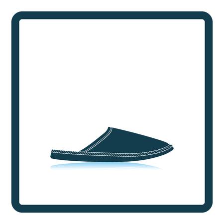 warmly: Man home slipper icon. Shadow reflection design. Vector illustration. Illustration