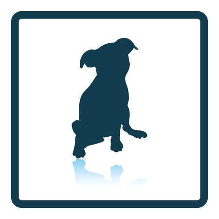 reflection: Puppy icon. Shadow reflection design. Vector illustration. Illustration