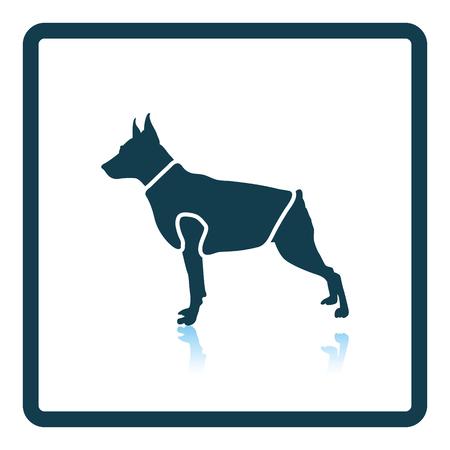 Dog cloth icon. Shadow reflection design. Vector illustration.