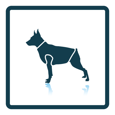clothed: Dog cloth icon. Shadow reflection design. Vector illustration.