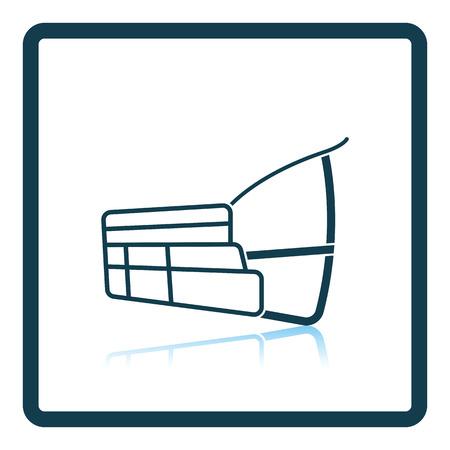advocacy: Dog muzzle icon. Shadow reflection design. Vector illustration. Illustration
