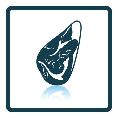 meat steak: Meat steak icon. Shadow reflection design. Vector illustration.