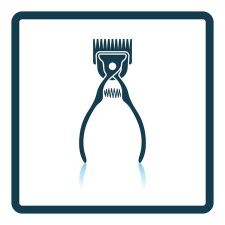 groomed: Pet cutting machine icon. Shadow reflection design. Vector illustration. Illustration