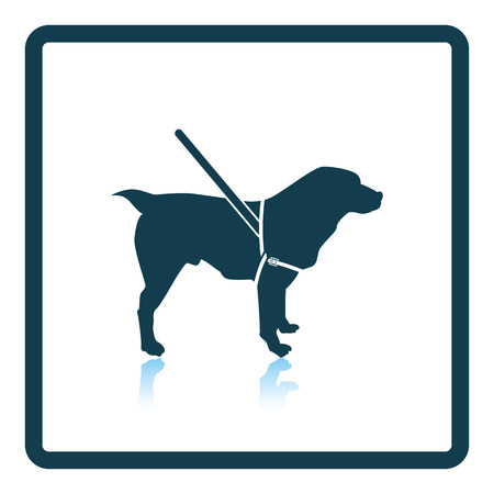 guide dog: Gude dog icon. Shadow reflection design. Vector illustration. Illustration
