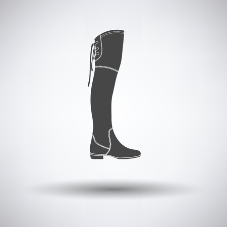 hessian boots: Hessian boots icon on gray background with round shadow. Vector illustration. Illustration