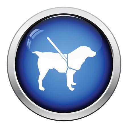 guide dog: Gude dog icon. Glossy button design. Vector illustration. Illustration