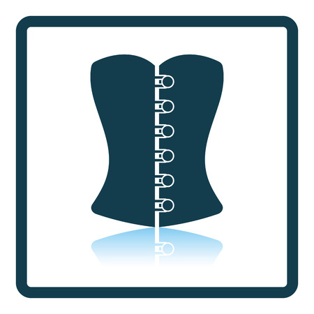 corset: Sexy corset icon. Shadow reflection design. Vector illustration. Illustration