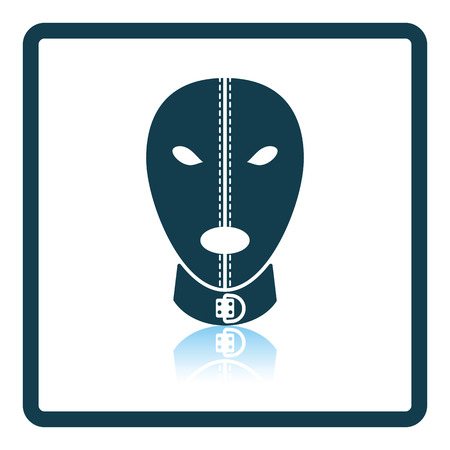 adult toys: mask icon. Shadow reflection design. Vector illustration.