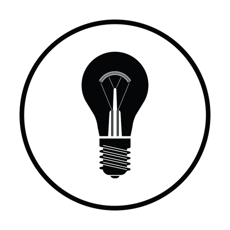 electric bulb: Electric bulb icon. Thin circle design. Vector illustration.