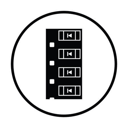 diode: Diode smd component tape icon. Thin circle design. Vector illustration.