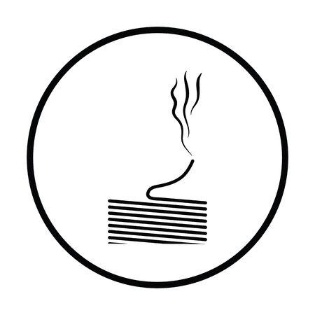solder: Solder wire icon. Thin circle design. Vector illustration. Illustration