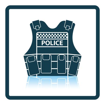 safety vest: Police vest icon. Shadow reflection design. Vector illustration. Illustration