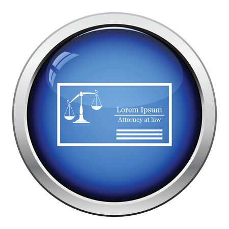 Lawyer business card icon blue frame design vector illustration lawyer business card icon glossy button design vector illustration vector reheart Images
