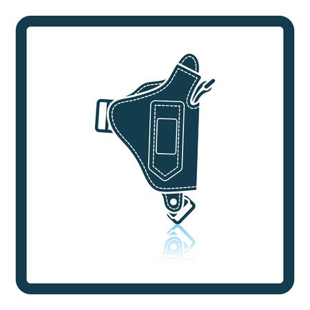 holster: Police holster gun icon. Shadow reflection design. Vector illustration.