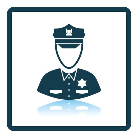 Policeman icon. Shadow reflection design. Vector illustration. 일러스트