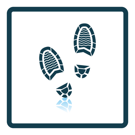 burglar proof: Man footprint icon. Shadow reflection design. Vector illustration. Illustration