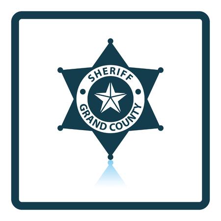 Sheriff badge icon. Shadow reflection design. Vector illustration. Illustration