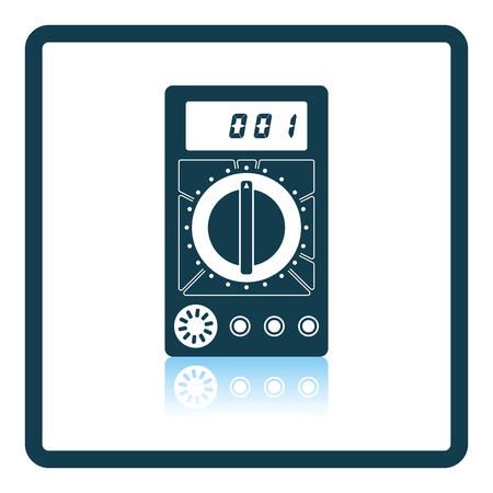 reflection: Multimeter icon. Shadow reflection design. Vector illustration.