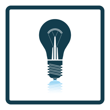 electric bulb: Electric bulb icon. Shadow reflection design. Vector illustration.