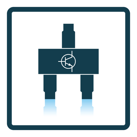 transistor: icono de transistor smd. diseño de la sombra reflexión. Ilustración del vector.