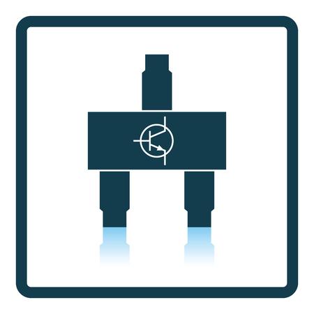 transitor: icono de transistor smd. dise�o de la sombra reflexi�n. Ilustraci�n del vector.