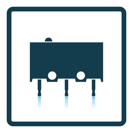 metal parts: Micro button icon icon. Shadow reflection design. Vector illustration.