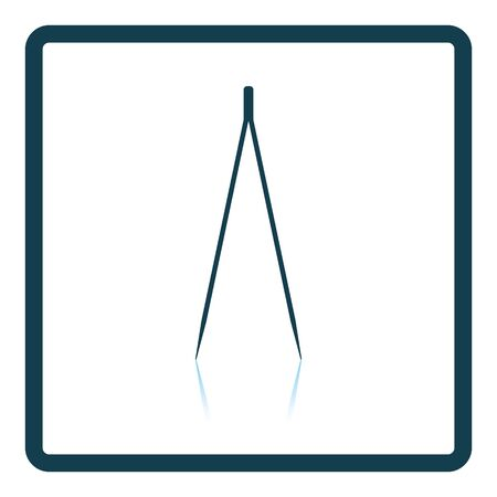 pinzas: icono eléctrica pinzas. diseño de la sombra reflexión. Ilustración del vector.