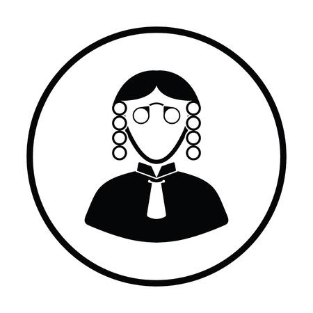 Judge icon. Thin circle design. Vector illustration. Illustration