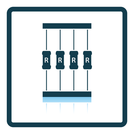 resistor: Resistor tape icon. Shadow reflection design. Vector illustration.