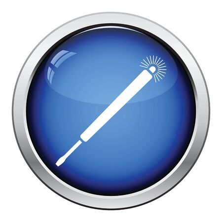high torque: Electricity test screwdriver icon. Glossy button design. Vector illustration.