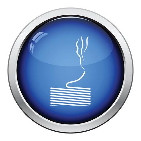solder: Solder wire icon. Glossy button design. Vector illustration.
