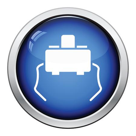 tact: Micro button icon. Glossy button design. Vector illustration. Illustration
