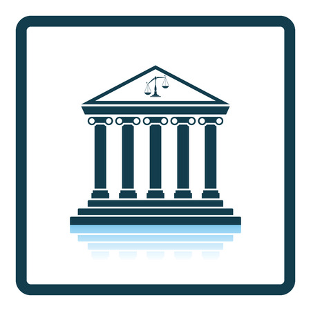 reflection: Courthouse icon. Shadow reflection design. Vector illustration.
