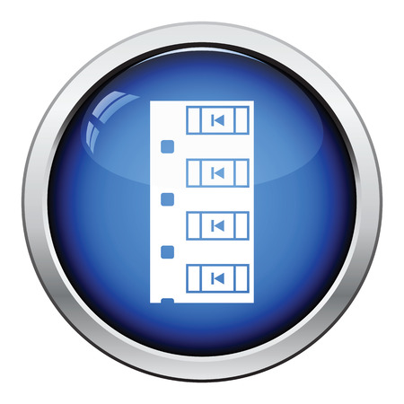 diode: Diode smd component tape icon. Glossy button design. Vector illustration.